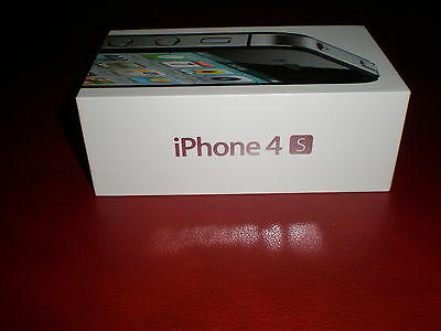 Apple iPhone 4S Black 32 GB BOX ONLY all original inserts & stickers
