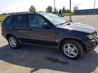 2002 BMW X5  2002 BMW X5 4.4i Black Sapphire tan Leather Navigation CD changer No Accident