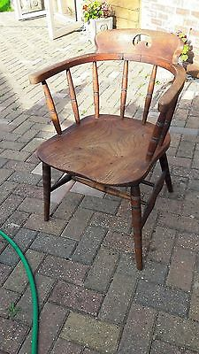 Oak captains chair completely original nothing has been done to it