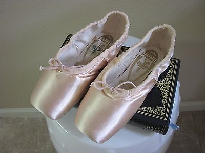 Ballet Slippers-3P X Pink Satin-Firicano Made In England By Freed Of London-S