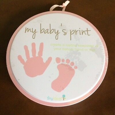 Baby's Hand or Foot Print Stamp Keepsake Gift + 3 Fridge Magnets for Baby Photos