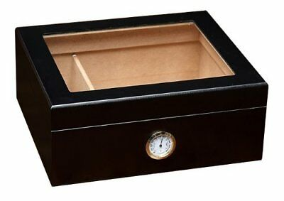 Prestige Import Group - The Chalet Glass Top Cigar Humidor - Capacity: 20-50 -