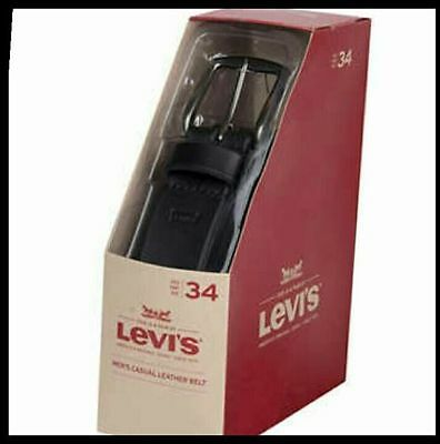 **NEW, LEVI'S Men's, Casual Leather Belt, Black, 32, 34, 36, 38, 40, 44 VARIETY