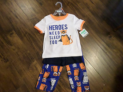 Boys  NEW 3 Piece Sleep Set CARTERS Short Sleeve Pants and Shorts Size 4T