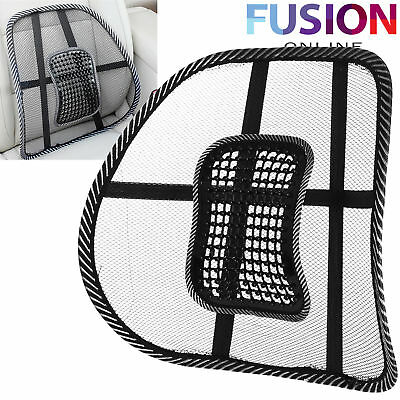 Mesh Back Support Lumbar Lower Back Cushion Pain Relief Car Seat Office Seat