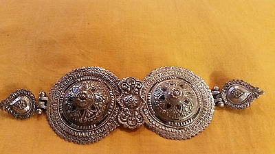 antique greek epirus sarakatsam 19th ottoman era silver niello belt buckle