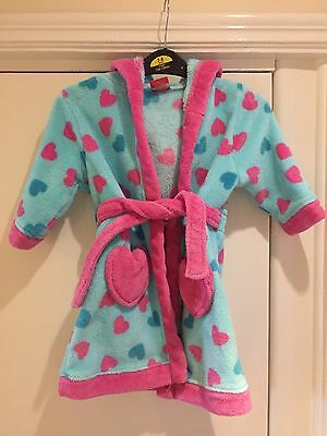 Mini Club At Boots Girls Dressing Gown Age 12-18 Months