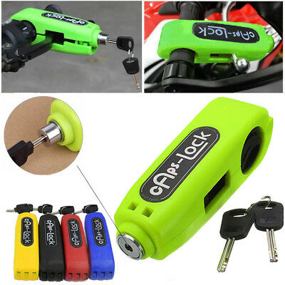 Scooter Motorcycle Motorbike Grip Lock Brake Lever Anit Theft Security Caps-Lock