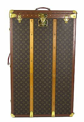 Louis Vuitton Monogram Canvas Vintage Wardrobe Steamer Trunk