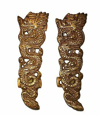 A pair of Attractive Brass made Unique CHINESE DRAGON designed DOOR HANDLES