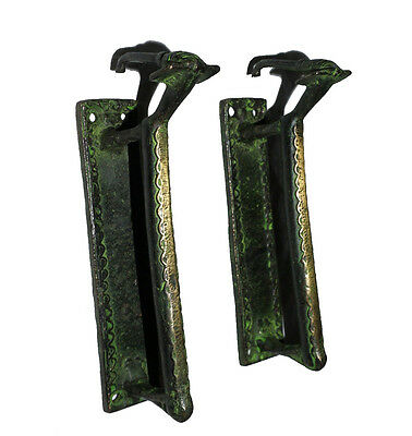 A pair Attractive Brass made Unique LOVELY WOMAN shape DOOR HANDLES from India