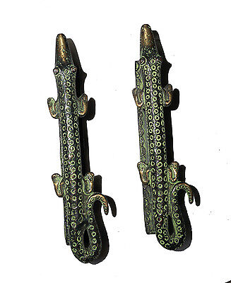 A pair Attractive Brass made Unique Crocodile Shape DOOR HANDLES from India