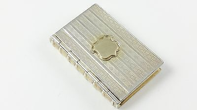 Victorian Solid Sterling Silver Cronin & Wheeler Novelty Book Vinaigrette 1847