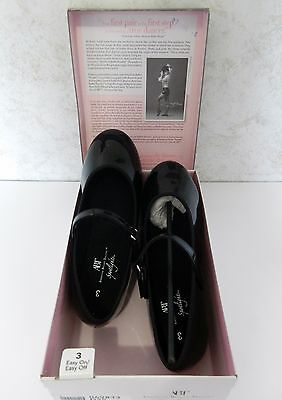Black Patent Leather Mary Jane Tap Youth Sz 3 Dance Shoes American Ballet ABT