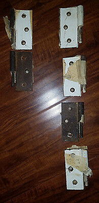 Lot of 6 Antique Vintage Victorian Hinges Exterior Door Window Hardware 3 1/2""