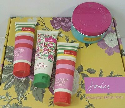 Joules Bundle Body Scrub lovely scrubbly x 2 hand cream and body lotion SEALED