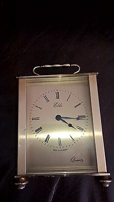 Vintage Quartz Brass Carriage Clock In Working Order Made In Germany By Eble