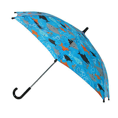 New CTM Kids' Shark Print Stick Umbrella