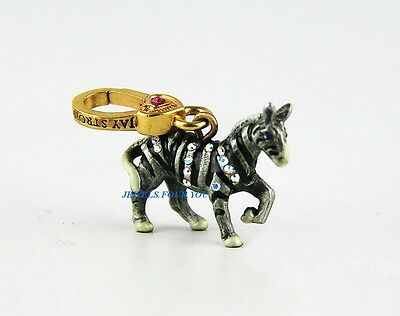 Jay Strongwater Charming Gold Mini Zebra Charm Swarovski Original Box Usa Made