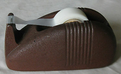 Vintage 3M Scotch Cast Iron Red / Brown Industrial Tape Dispenser - Whale Tail
