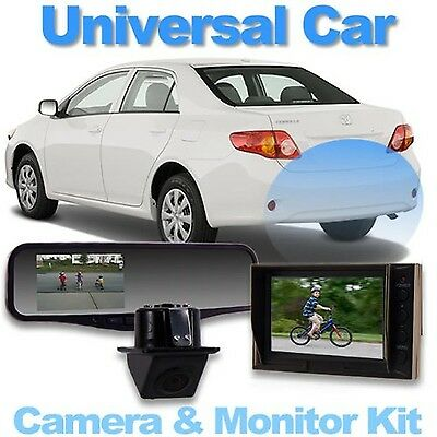 """Universal CarRear Camera System with 4.3"""" Video Mirror"""