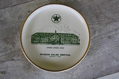 Texaco Division Sales Meeting Commemorative Plate Gas Motor Oil Muller Co