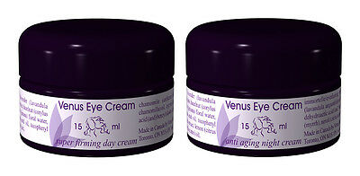 Venus Eye Cream Combo Super Firming Day and Anti-Aging Night 2 - .5oz(15ml) Jars
