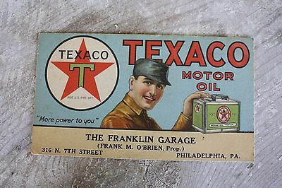 Texaco Gas Motor Oil Paper Advertisement Country Store The Franklin Garage PA