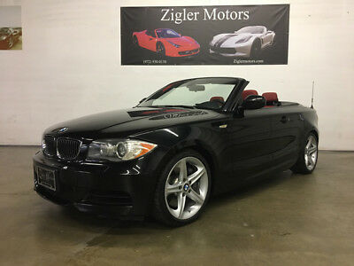 2010 BMW 1-Series Base Convertible 2-Door 2010 BMW 135i Sport Convertible Jet Black/Red