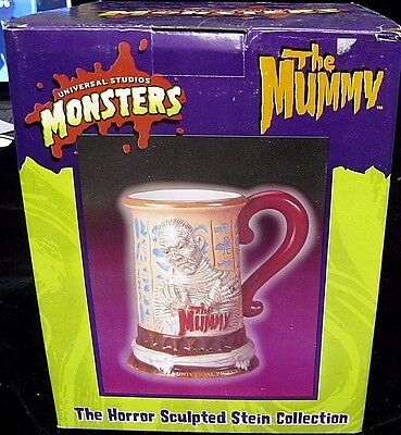"Universal Studios Monsters ""The Mummy"" Stein from Horror Sculpted Collection NIB"