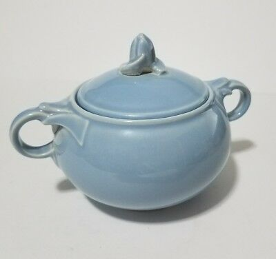 Vintage 1947 T.S.&T Lu Ray Pastels Blue Sugar Bowl With Lid # 249 USA