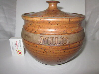 """Belltower Pottery """"Milo"""" canister with lid."""