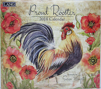2018 Lang Wall Calendar Proud Rooster by Susan Winget Fits Timber Frame