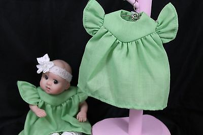 "Doll dress for 5-1/2""--6"" OOAK doll  Green"