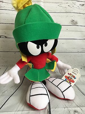 """Applause Warner Brothers Looney Tunes 14"""" Marvin The Martian Plush Vintage w/tag"""