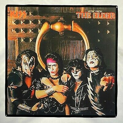 KISS Music From The Elder with Band Coaster Ceramic Tile