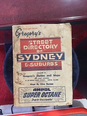 21st Edition Gregory's Sydney's Street Directory