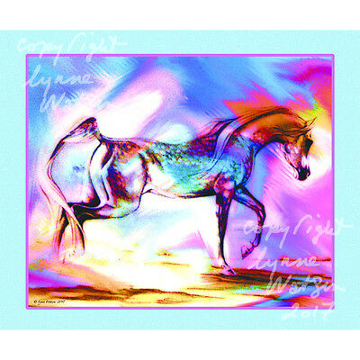 "POLAR FLEECE BLANKET.. ARABIAN HORSE.  50"" x 60"" Orig. Art."