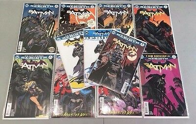 DC Universe Rebirth BATMAN 1 2 3 4 5 6 7 8 9 (2016) + Extras, 1st Prints, VF+/NM