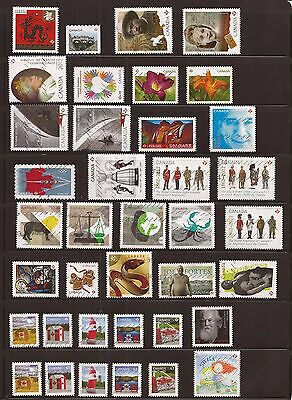 Nice Canada collection of 50 different used stamps from 2012 to 2013 only