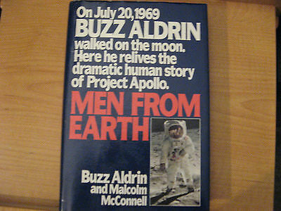 "Buzz Aldrin Autographed Book, Men From Earth, ""last Chance"""