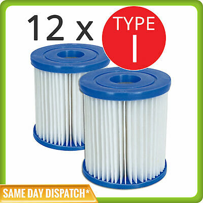 6 x Twin Sets of Bestway Cartridge Filter Element Type I for 330 gph pump- 58093