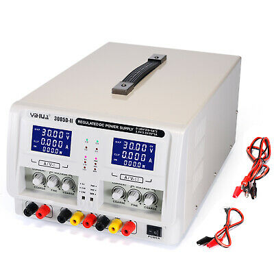 Yh-3005D-Ii 4-Digit Variable Triple Outputs Linear Dc Power Supply0-30Volts 0-5A