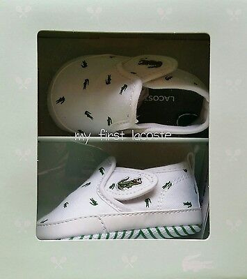 baby lacoste crib shoes size 2