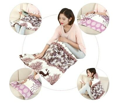 Warm Washable Heated Electric Throw Rug Snuggle Blanket 3 Heat Settings 60*80 cm