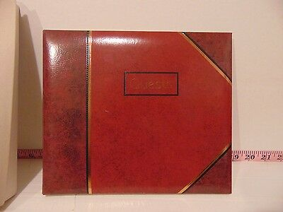 Hallmark Album Burgundy Deluxe Guest Book New In Damaged Box