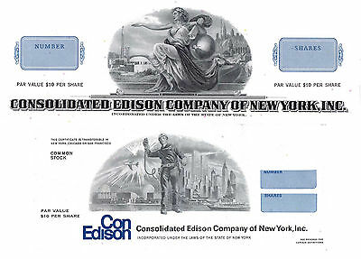 Consolidated Edison ConEd Stock Public Utility Set of 2 Stock Certificates #2