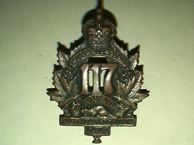 WW1 CEF OR's Collar Badge -117th Overseas Bn -  Eastern Townships