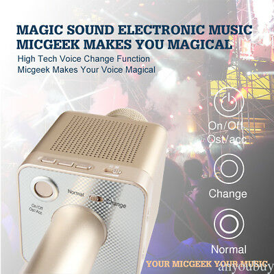 Portable MicGeek Q10S Wireless Microphone Bluetooth KTV For Android Ios Private