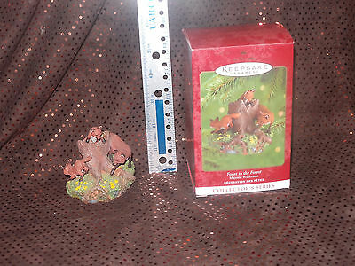 2000 Hallmark Keepsake Ornament Foxes In The Forest Majestic Wilderness